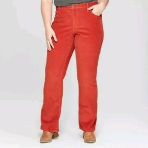 { Universal Thread } Orange Corduroy Flare Pants